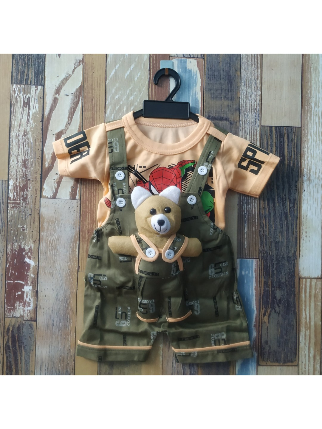 NDT Baby Boy & Baby Girl Teddy Bear Dungaree Set with T-shirt 0-1 Year || Clothes for Baby boy and Girl