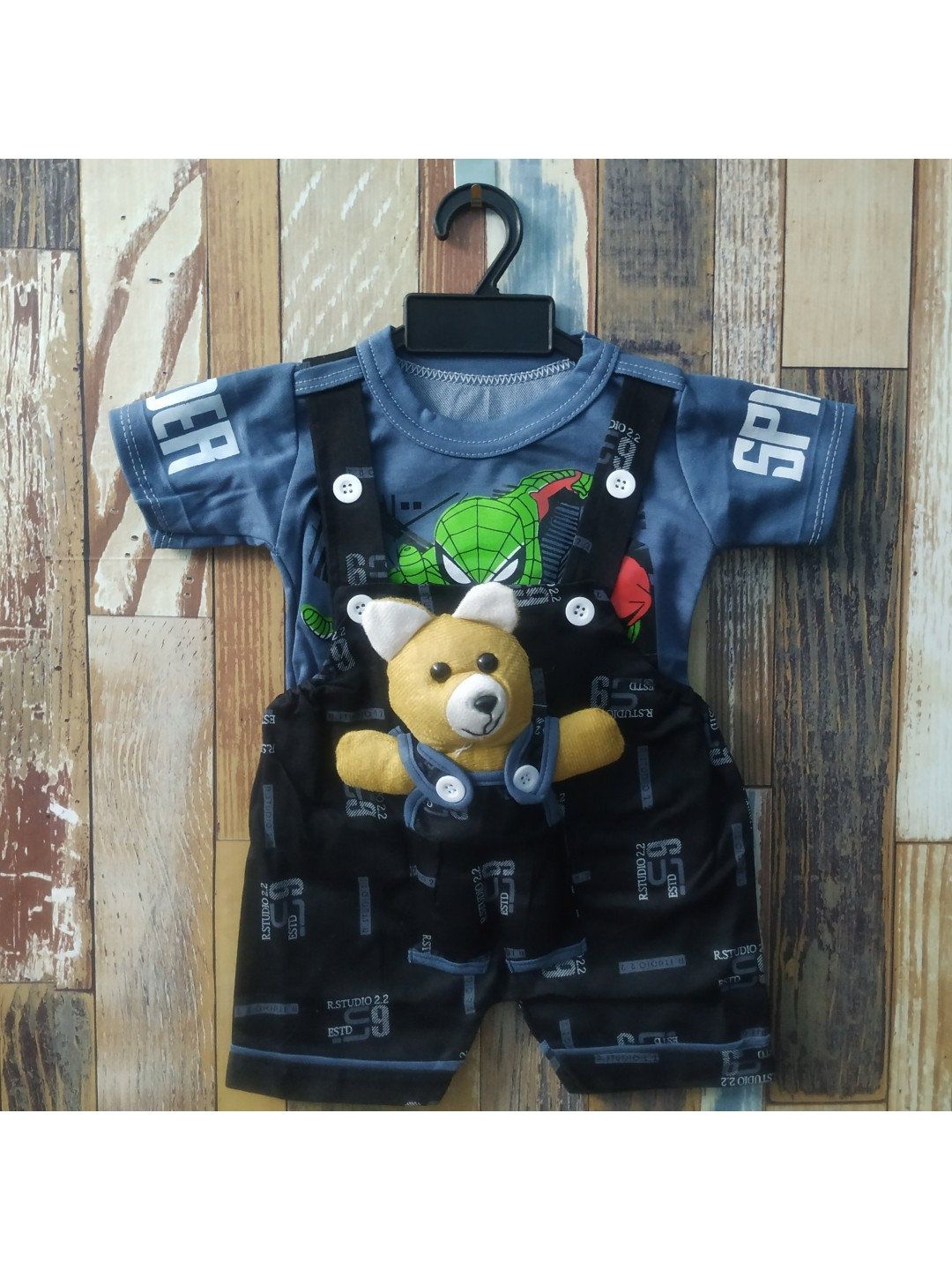 NDT Baby Boy & Baby Girl Teddy Bear Dungaree Set with T-shirt 0-1 Year    Clothes for Baby boy and Girl
