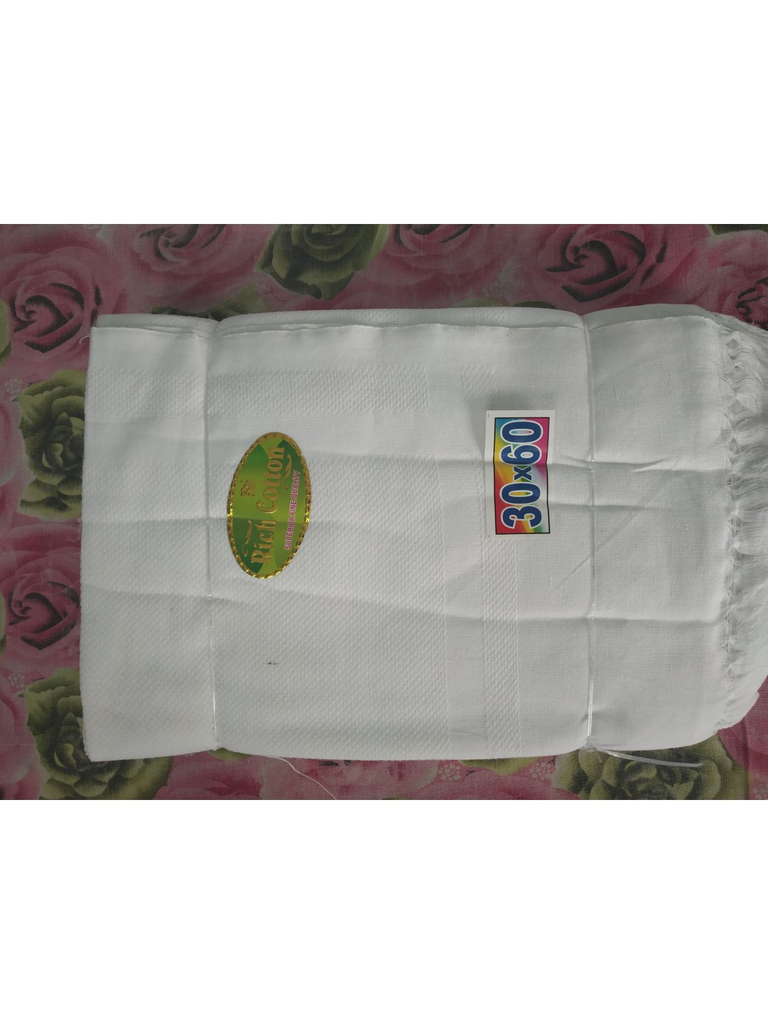 Rich Cotton White Highly Soft Quality Towels (12pcs pack)