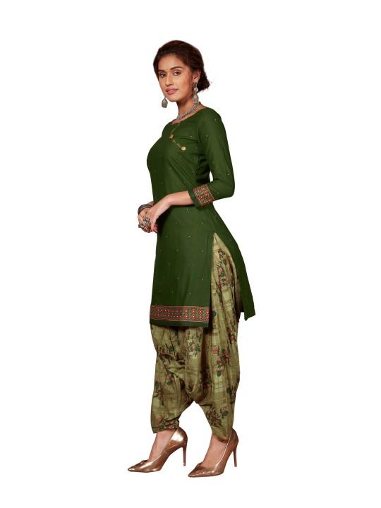 Baalar Women Cotton Un-stitched Dress Material