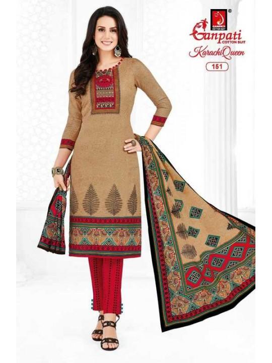 Ganpati Women Cotton Un-stitched Dress Material