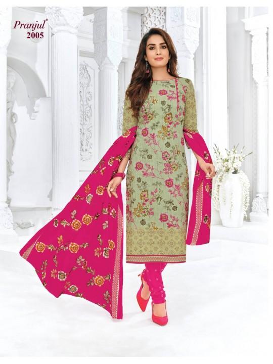 Pranjul Women Cotton Un-stitched Dress Material